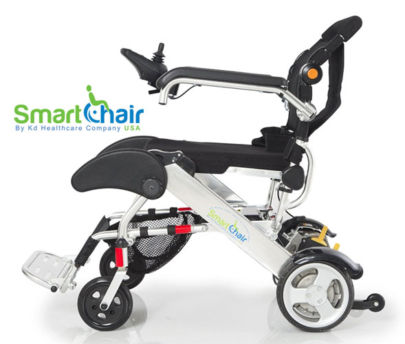 Product review kd smart chair electric wheelchair for Lightweight motorized folding wheelchair